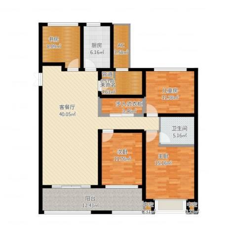 龙湖时代天街4室1厅3卫4厨178.00㎡户型图