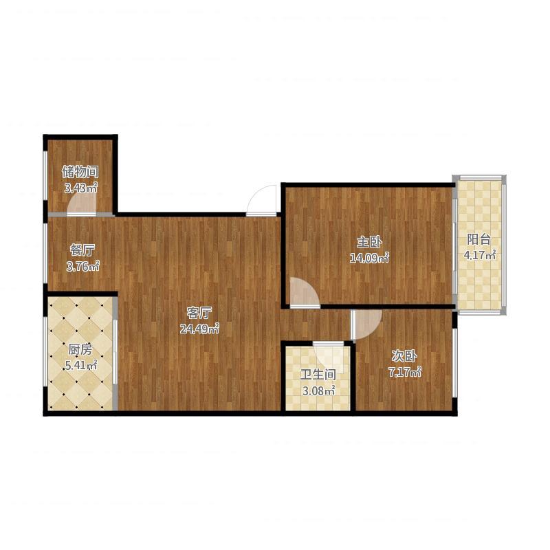 北宝苑两室一厅简约装修