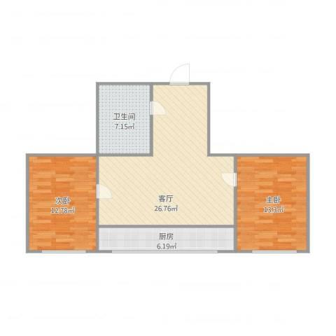 叠翠山庄2室1厅1卫1厨89.00㎡户型图
