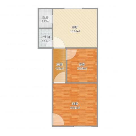 德兴大厦2室1厅1卫1厨74.00㎡户型图