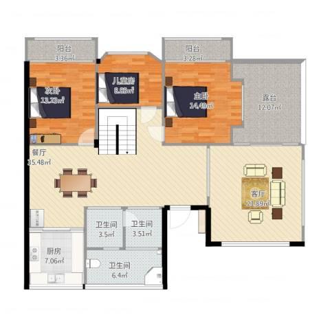 怡水嘉园(05幢)3室2厅3卫1厨181.00㎡户型图