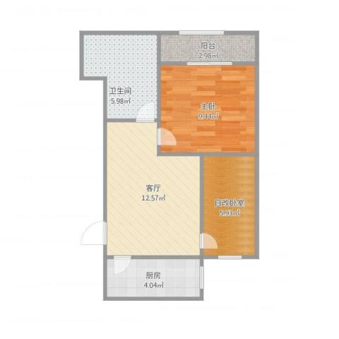 普照园小区1室1厅1卫1厨56.00㎡户型图