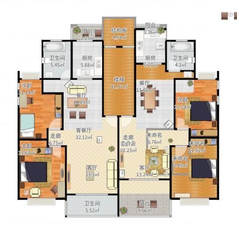 金都花好悦园五期3室1厅3卫2厨225.00㎡户型图
