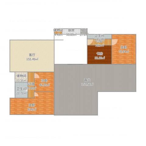 海逸阁4室1厅2卫1厨1127.00㎡户型图