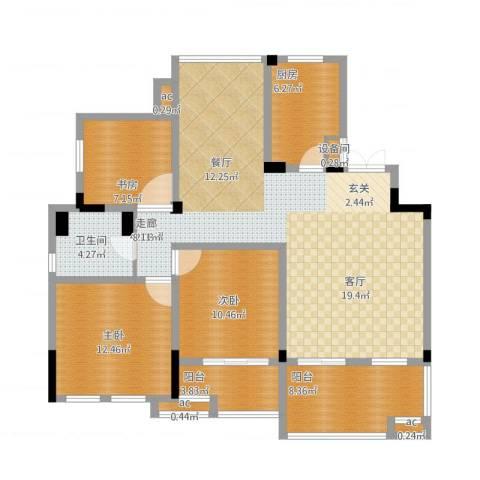 万业·观山泓郡3室1厅1卫1厨139.00㎡户型图