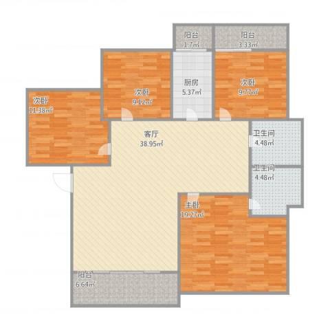 车陂惠苑楼4室1厅2卫1厨154.00㎡户型图