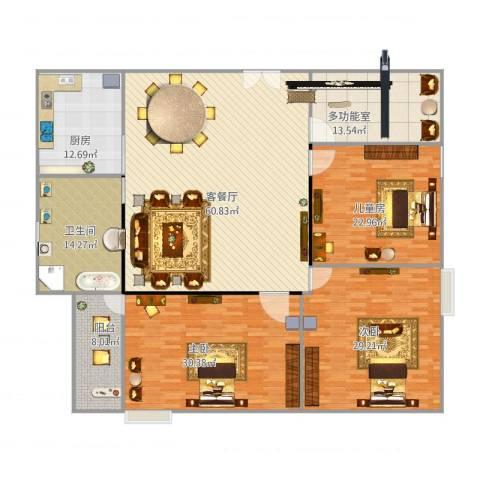 阳光海岸3室1厅1卫1厨251.00㎡户型图