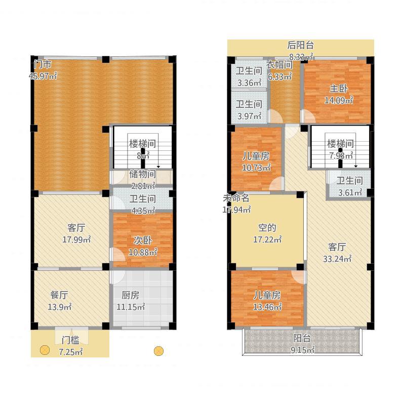 坎墩A1260方四室两厅