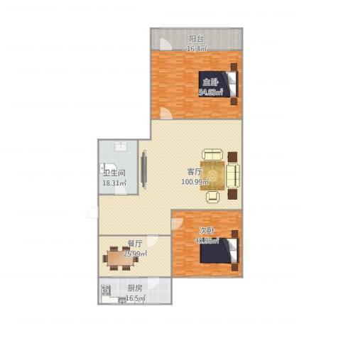 历东小区2室2厅1卫1厨356.00㎡户型图