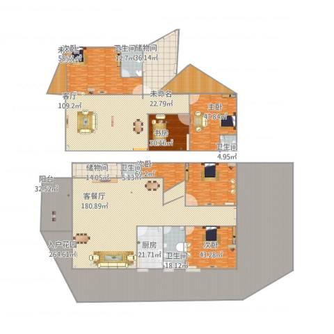 颐和高尔夫山庄5室2厅4卫1厨1257.00㎡户型图