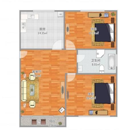 延吉东路1312室1厅1卫1厨120.00㎡户型图