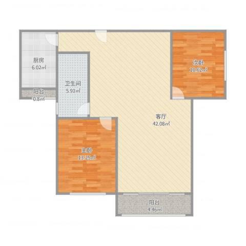曹路家苑2室1厅1卫1厨111.00㎡户型图