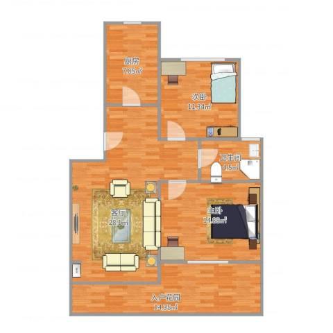 爱法花园二期2室1厅1卫1厨109.00㎡户型图
