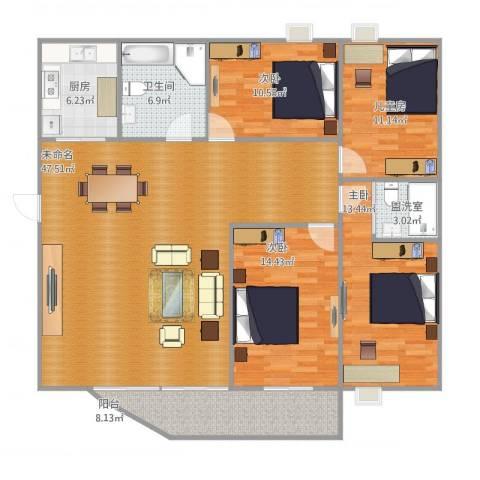 安兴花园14室1厅1卫1厨162.00㎡户型图