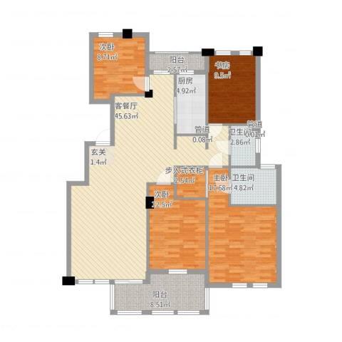 春江花城4室1厅4卫1厨169.00㎡户型图