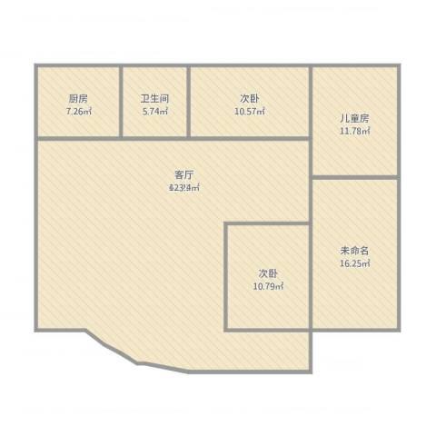 安兴花园3室1厅1卫1厨166.00㎡户型图