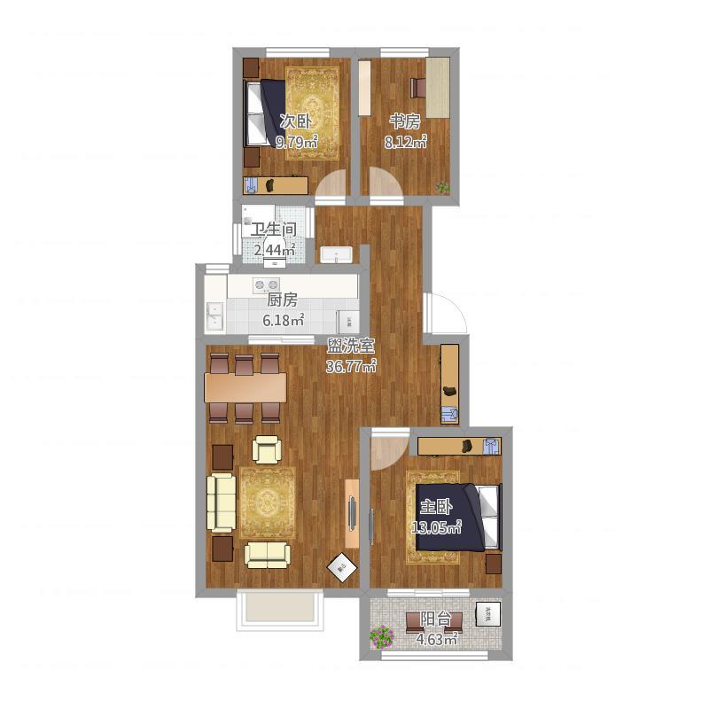 三室两厅M1