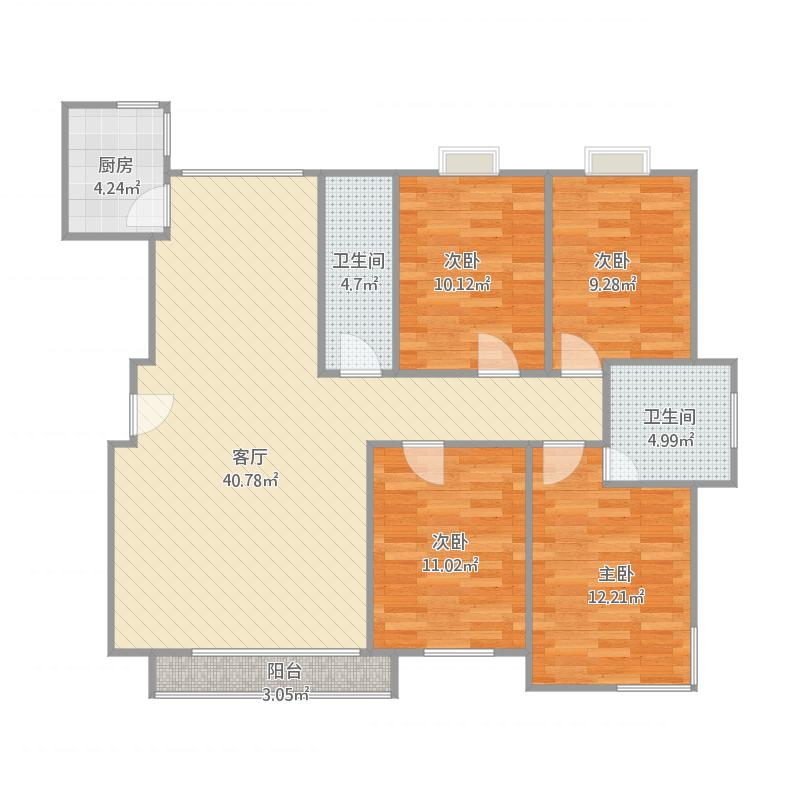 瑞特家园4室户型图