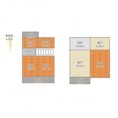 三江尊园3室2厅1卫1厨571.00㎡户型图