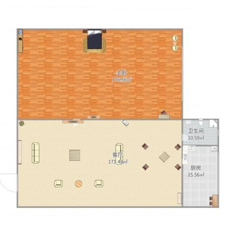 香炉礁1室1厅1卫1厨491.00㎡户型图