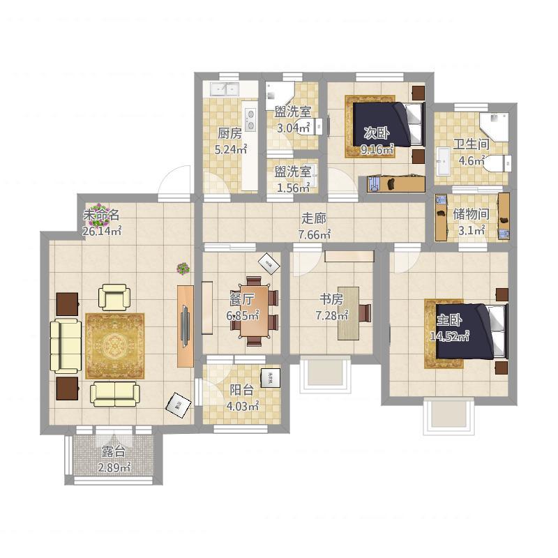 三室两厅G