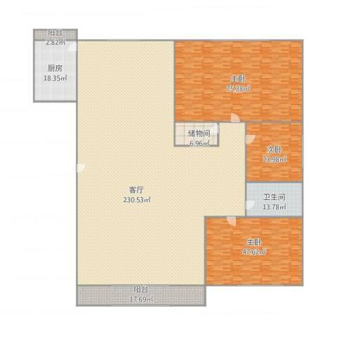 宏都筑景3室1厅1卫1厨564.00㎡户型图