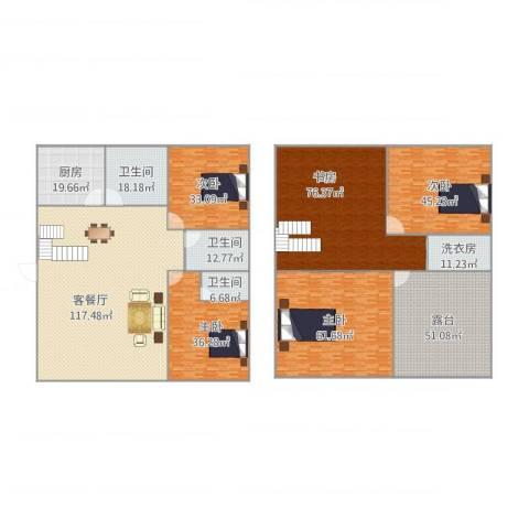 芙蓉苑5室1厅3卫1厨635.00㎡户型图