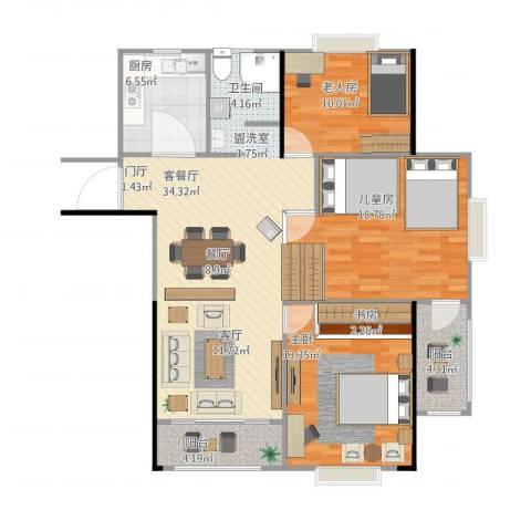 天工・锦绣花园3室1厅1卫1厨126.00㎡户型图