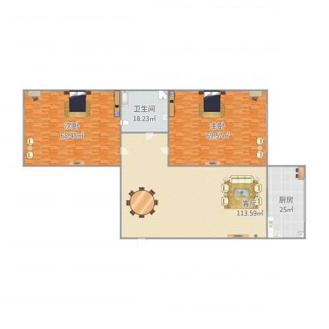 大菜市2室1厅1卫1厨380.00㎡户型图