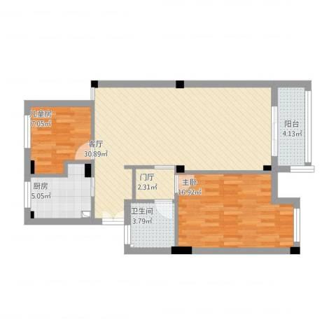 金桂苑2室1厅1卫1厨99.00㎡户型图