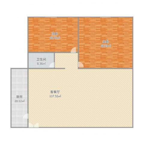文化七村2室1厅1卫1厨337.00㎡户型图