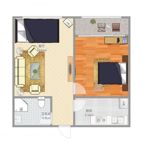 中建馨园1211室1厅1卫1厨71.00㎡户型图