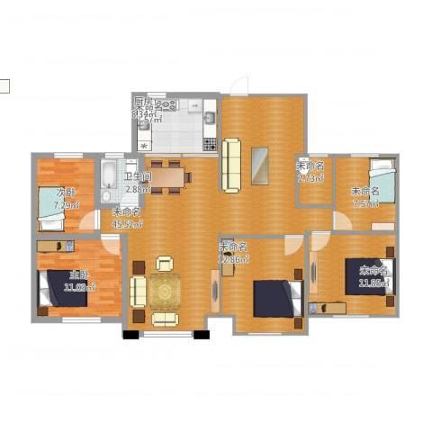 宏基・阳光尚城4室1厅3卫1厨151.00㎡户型图