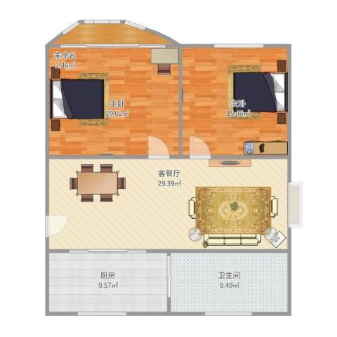 加盟圣蓝苑2室1厅1卫1厨114.00㎡户型图