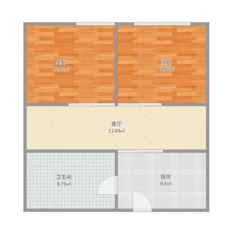 米兰丽都—单栋1单元5062室1厅1卫1厨75.00㎡户型图