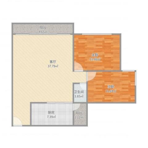 中海文华熙岸8座11022室1厅1卫1厨106.00㎡户型图