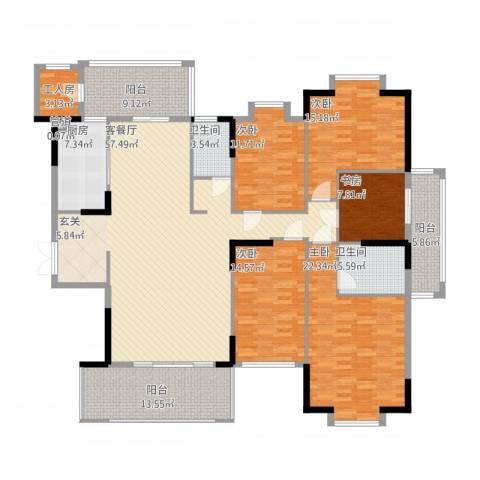 山水世家5室1厅2卫1厨247.00㎡户型图