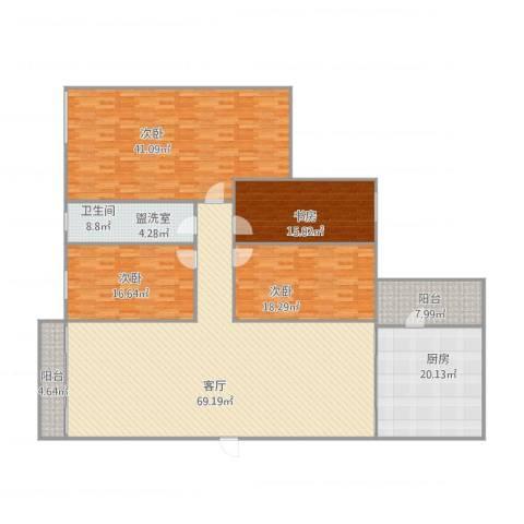 宝翠花园4室1厅1卫1厨266.00㎡户型图