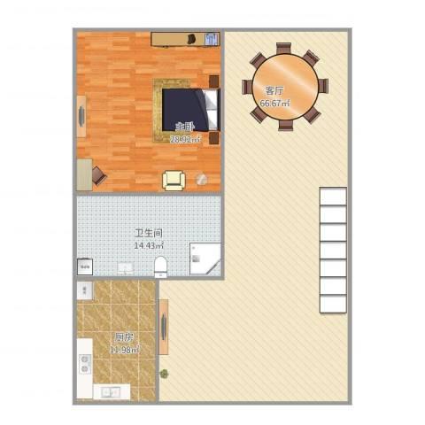 流水苑1室1厅1卫1厨159.00㎡户型图