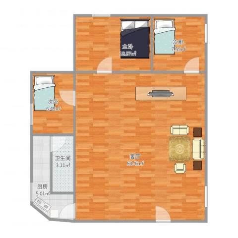 宏威中心4033室1厅1卫1厨111.00㎡户型图