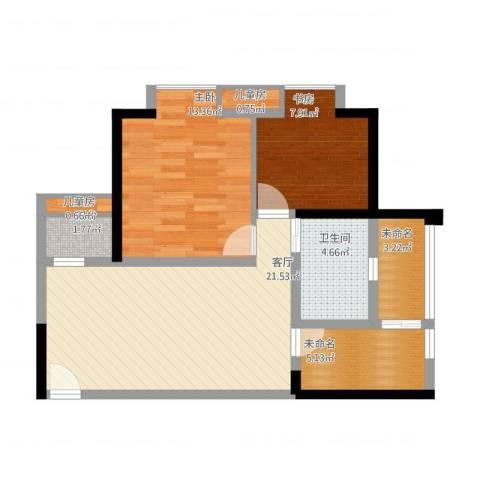 盛世龙都4室1厅2卫1厨86.00㎡户型图