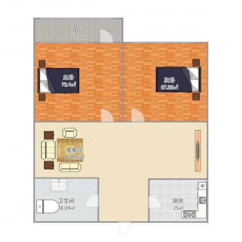 南全福小区2室1厅1卫1厨431.00㎡户型图
