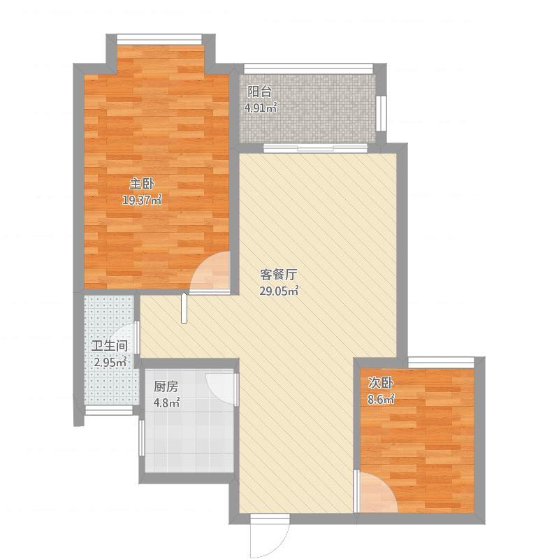 隆成丹郡户型图1