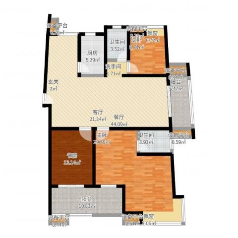 保利香槟国际3室1厅5卫4厨185.00㎡户型图