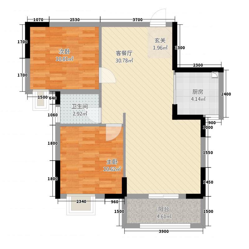 书香世家284.66㎡户型2室2厅1卫1厨