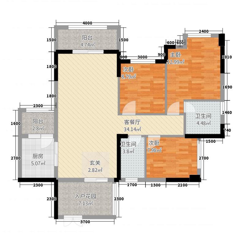 金色维也纳CJ户型3室2厅2卫1厨