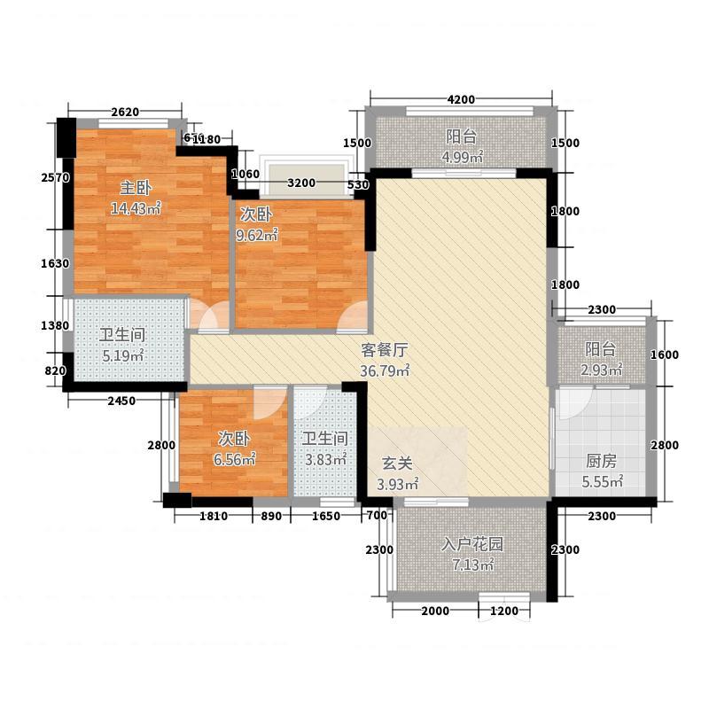 金色维也纳BI户型3室2厅2卫1厨