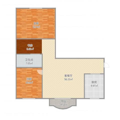 盛世华城2室1厅1卫1厨159.00㎡户型图