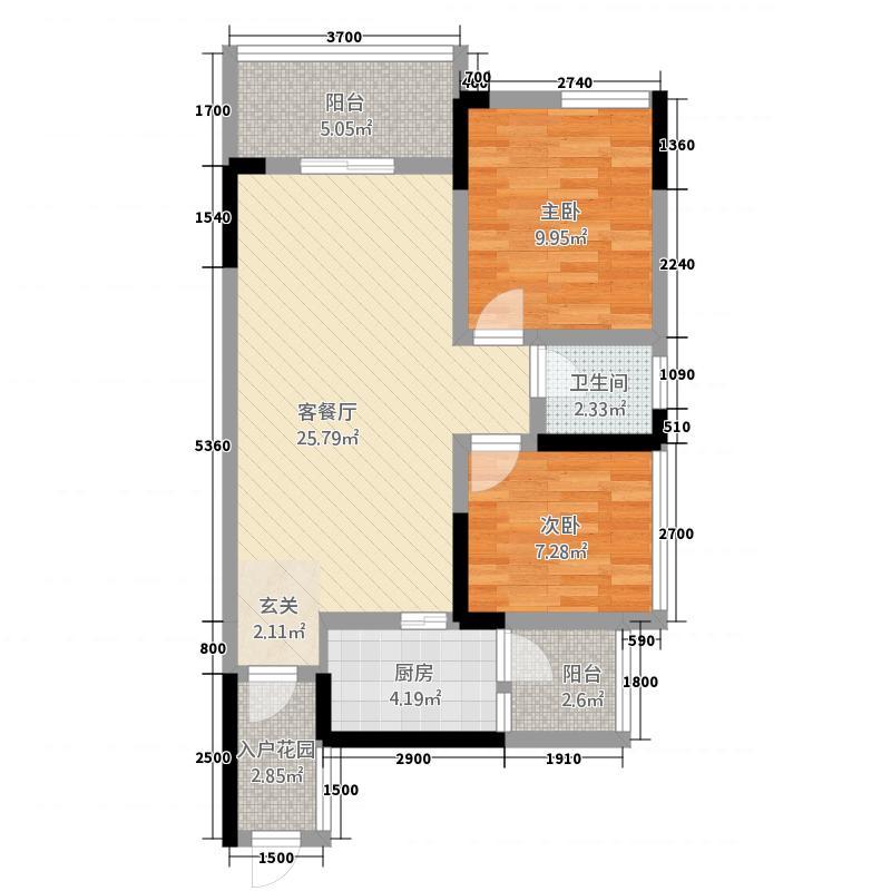 英伦城邦1388.12㎡D1户型3室2厅2卫1厨