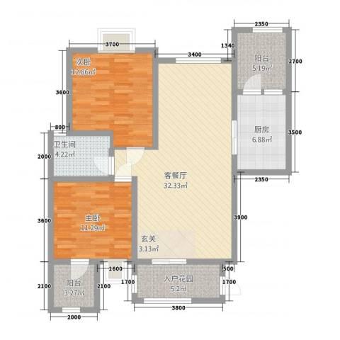 匀上・香格里拉2室1厅1卫1厨215.00㎡户型图